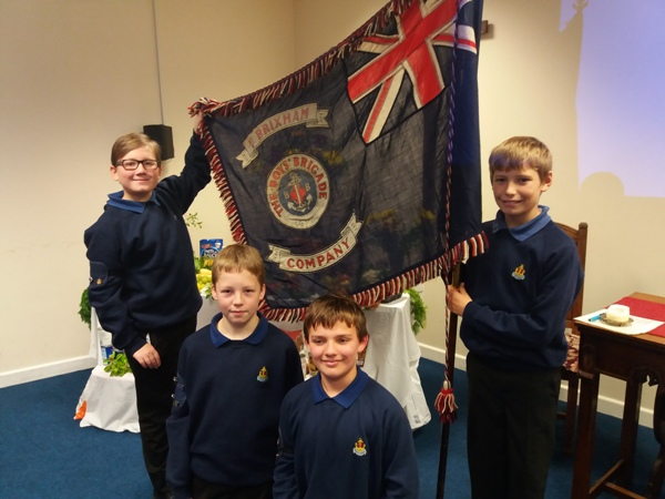 BB Boys with Flag